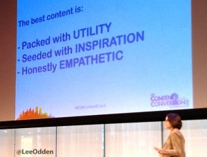 Ann Handley of MarketingProfs speaks at Content2Conversion conference on the best content
